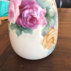 """Hand painted vase. Porcelain China 8.5"""" tall"""